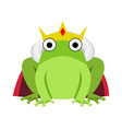 King frog with red cape and crown