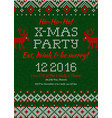 knitted invitation to christmas x-mas vector image vector image