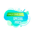 limited sale special price poster ad vector image vector image