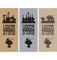 liquor store vector image vector image