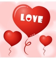 Love card Valentines day Font Pink vector image