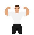 men bodybuilder vector image vector image