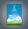 nature template with sky and raimbow vector image vector image