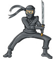 ninja cartoon isolated on white background vector image vector image