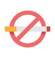 no smoking flat vector image vector image