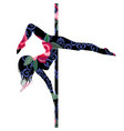 poledance dance dancer fashion female fitness vector image