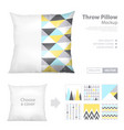 realistic pillows print pattern set vector image vector image