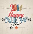 Retro New Year card 2014 vector image vector image