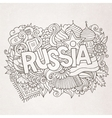 Russia hand lettering and doodles elements vector image vector image