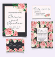 save the date cards wedding invitation vector image