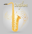 saxophone wind musical instruments stock vector image