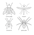 Set of insects vector image