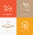 set of logo design templates and emblems vector image vector image