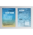 Set of Poster Brochure Design Templates vector image vector image
