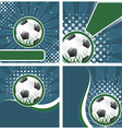 set soccer background in retro style vector image vector image