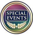 special events icon vector image vector image