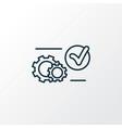 system preferences icon line symbol premium vector image
