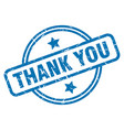thank you grunge stamp vector image vector image