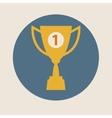 Trophy cup icon flat design Concept-winning vector image vector image