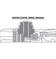 united states reno nevada line skyline vector image vector image