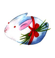 watercolor easter rabbit vector image vector image
