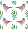 Watercolor seamless pattern with birds vector image vector image
