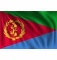 waving eritrea vector image vector image