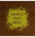 Wood texture splash and text vector image vector image