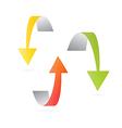 Yellow Orange and Green 3d Arrows vector image vector image