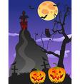 spooky Halloween background vector image