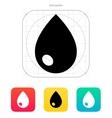 Blood drop icon vector image