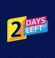 2 days left countdown banner