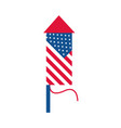 4th july independence day fireworks american vector image