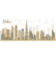 Abstract Dubai City skyline vector image