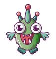 alien monster icon cartoon style vector image vector image