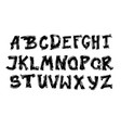 alphabet letters collection text lettering set vector image vector image