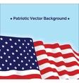 American flag patriotic vector image