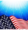 American flag underwater vector image vector image