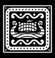 an ancient scandinavian image a viking ship and vector image vector image
