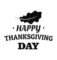 autumn leaf thanksgiving logo simple style vector image vector image
