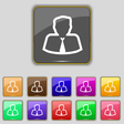 Avatar icon sign Set with eleven colored buttons vector image vector image