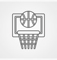 basketball icon sign symbol vector image vector image