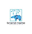 bear technology logo design template white vector image vector image