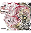 Black red and gold marble style abstract vector image