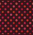 brown polka dot pattern vector image