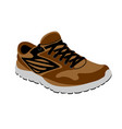 brown sneakers vector image vector image