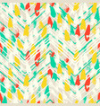 chevron print with colorful stripes and lines vector image vector image