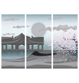 Chinese colorful landscape vector image