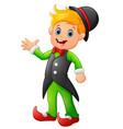 circus boy cartoon vector image vector image