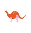 colorful brontosaurus dinosaur cute prehistoric vector image vector image